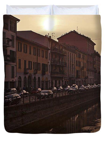 Milan Naviglio Grande Duvet Cover by Joana Kruse