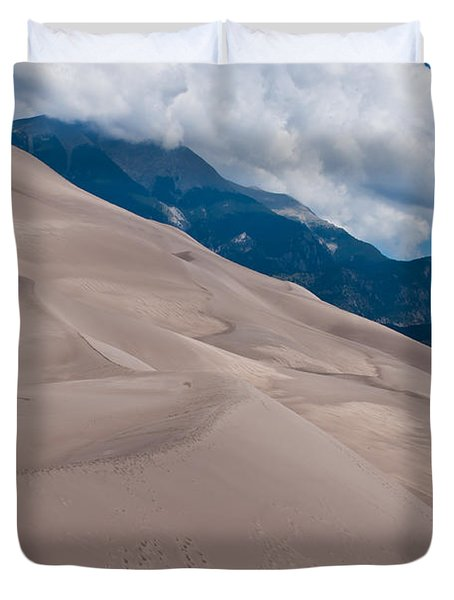 Duvet Cover featuring the photograph Miles Of Sand by Colleen Coccia