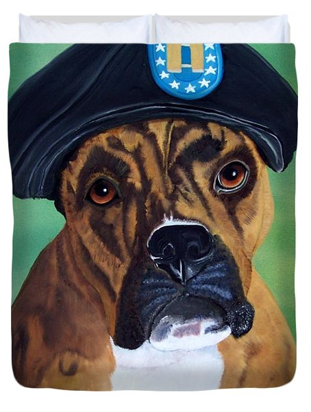 Military Boxer Duvet Cover by Debbie LaFrance