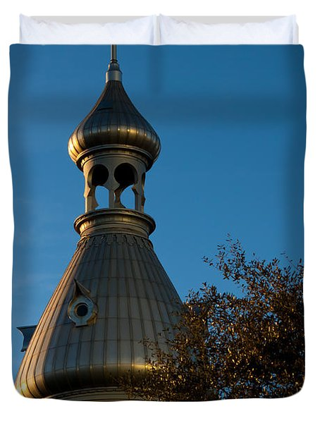 Duvet Cover featuring the photograph Minaret And Trees by Ed Gleichman
