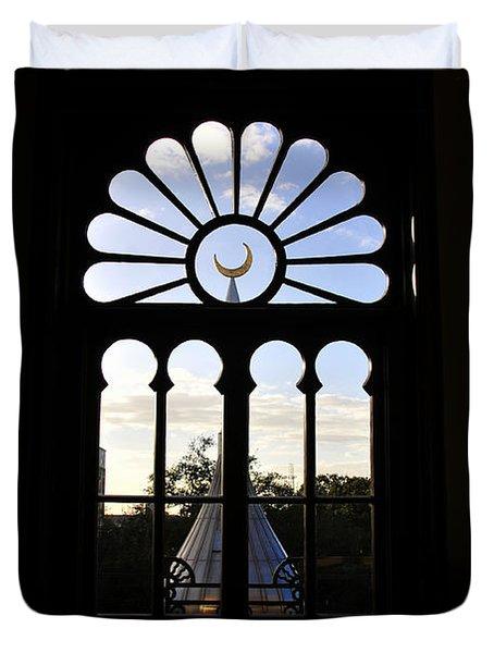Minaret Through Window Duvet Cover by David Lee Thompson