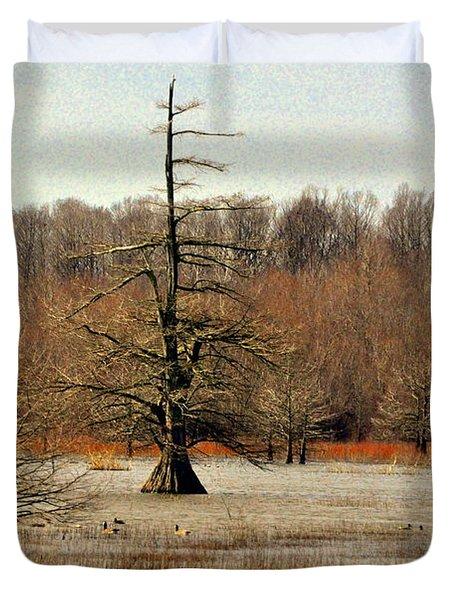Mingo Swamp 1 Duvet Cover by Marty Koch