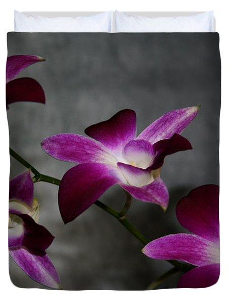 Miniature Orchids Duvet Cover