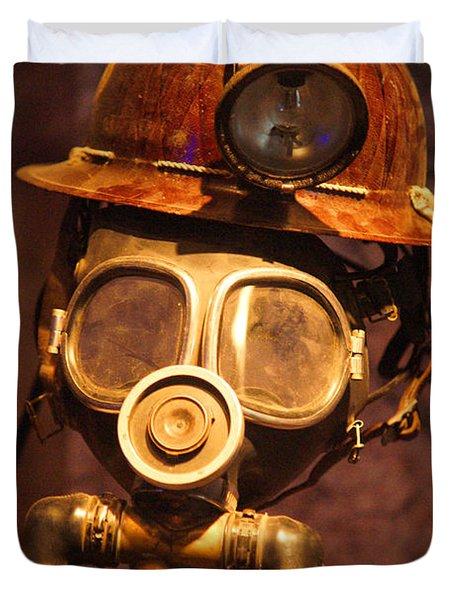 Mining Man Duvet Cover by Randy Harris