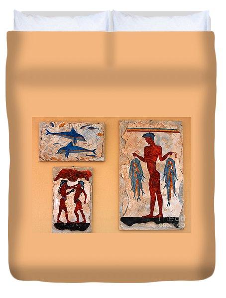 Minoan Artwork Duvet Cover