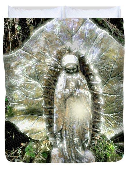Miracle In My Garden Duvet Cover