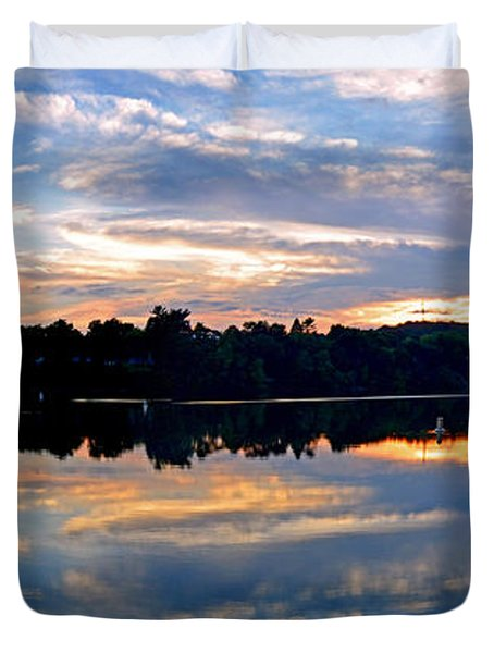 Mirror Mirror On The Water Duvet Cover by Sue Stefanowicz