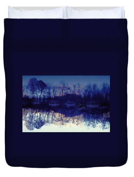 Duvet Cover featuring the photograph Mirror Pond In The Berkshires by Tom Wurl