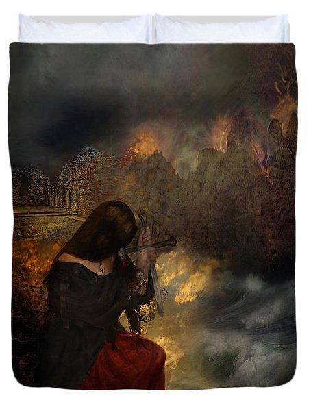 Miserere Duvet Cover by Lianne Schneider