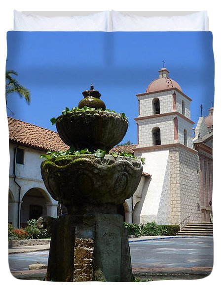 Mission Fountain Duvet Cover by Methune Hively