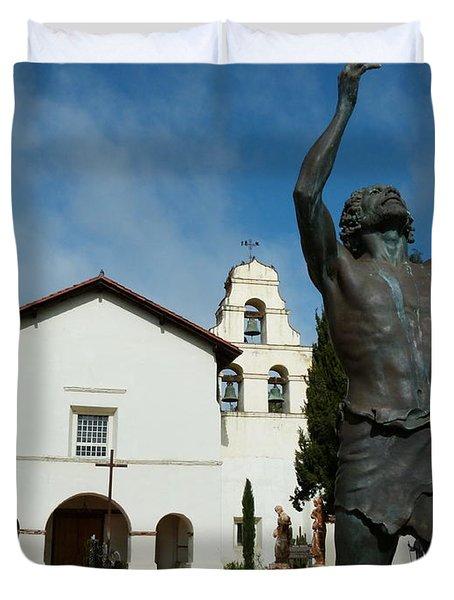 Mission San Juan Bautista Duvet Cover by Jeff Lowe