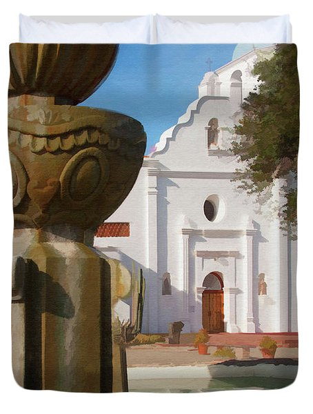 Mission Santa Cruz Duvet Cover