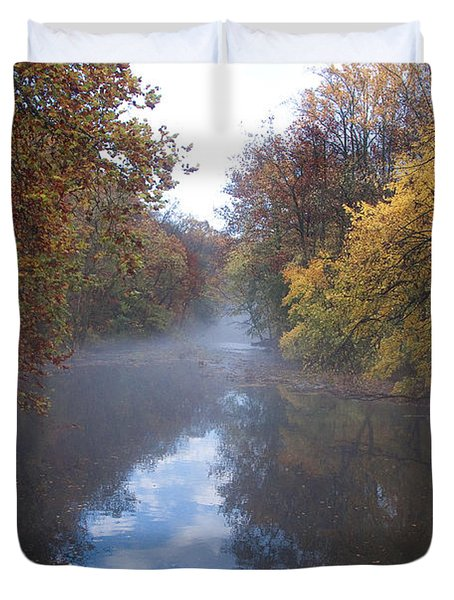 Mist Along The Wissahickon Duvet Cover by Bill Cannon