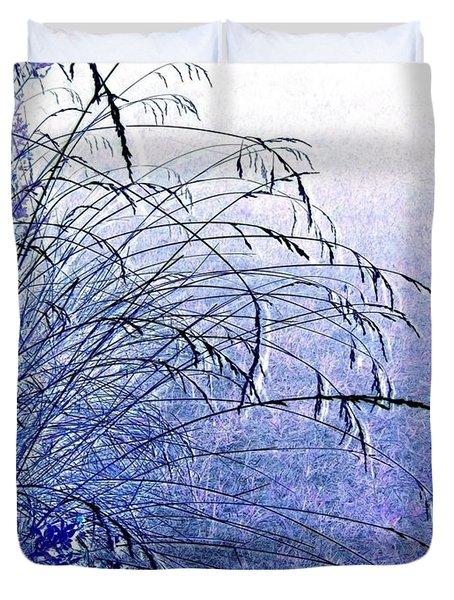 Misty Blue Duvet Cover by Will Borden