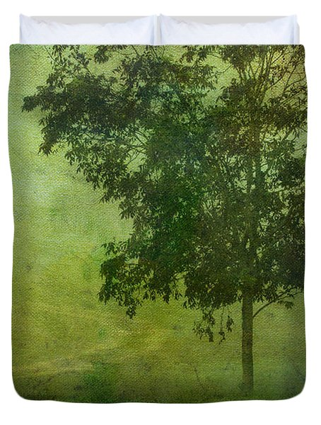 Misty Country Lane Duvet Cover by Judi Bagwell