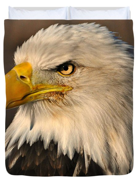 Misty Eagle Duvet Cover by Marty Koch