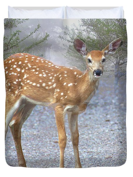 Misty Fawn Duvet Cover by Marty Koch