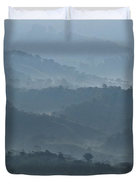Misty Hills Of Chiriqui Duvet Cover by Heiko Koehrer-Wagner