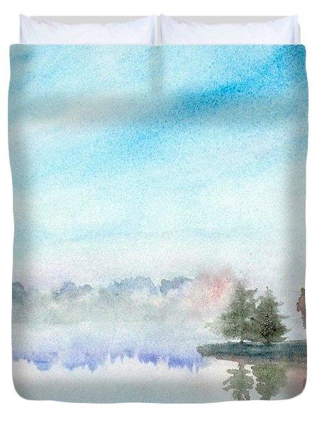 Misty Lake Duvet Cover by Yoshiko Mishina