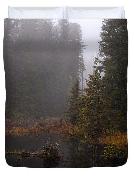Misty Solitude Duvet Cover by Mike Reid