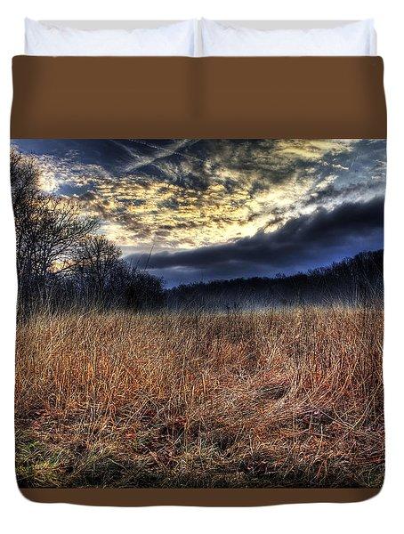 Misty Sunrise Duvet Cover by Mark Six