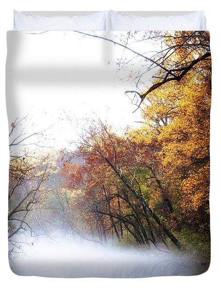 Misty Wissahickon Duvet Cover by Bill Cannon