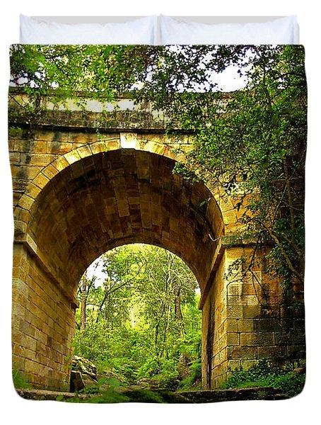 Mitchells Pass Bridge Lapstone A Convict Built Bridge Duvet Cover