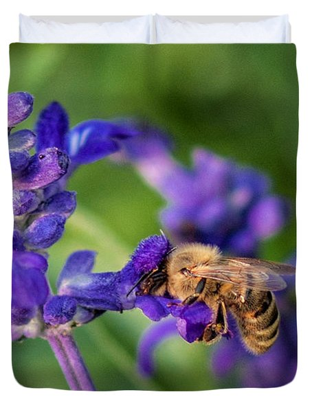 Duvet Cover featuring the photograph Mmmm Honey by Tom Gort
