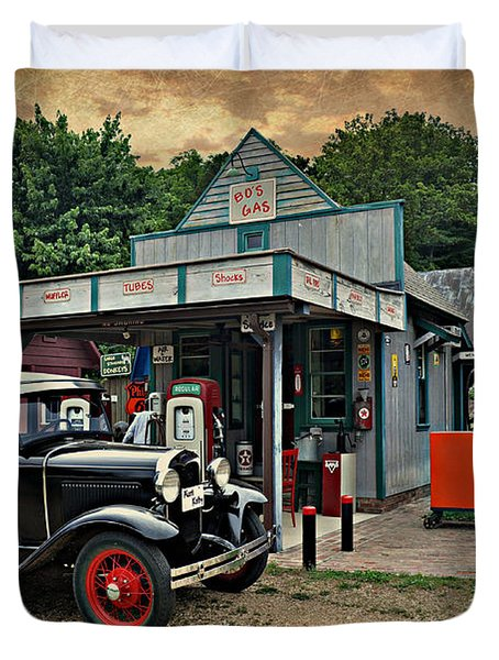 Model A Station Duvet Cover by Marty Koch