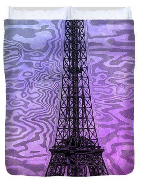 Modern-art Eiffel Tower 14 Duvet Cover