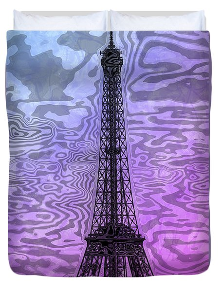 Modern-art Eiffel Tower 14 Duvet Cover by Melanie Viola