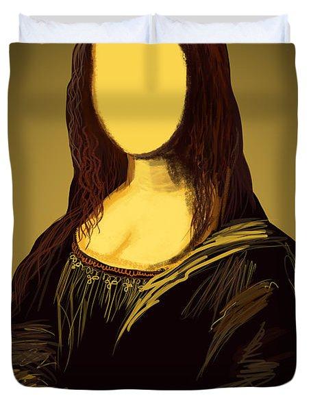 Mona Lisa Duvet Cover by Setsiri Silapasuwanchai