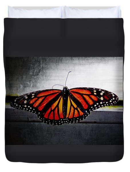Duvet Cover featuring the photograph Monarch by Julia Wilcox