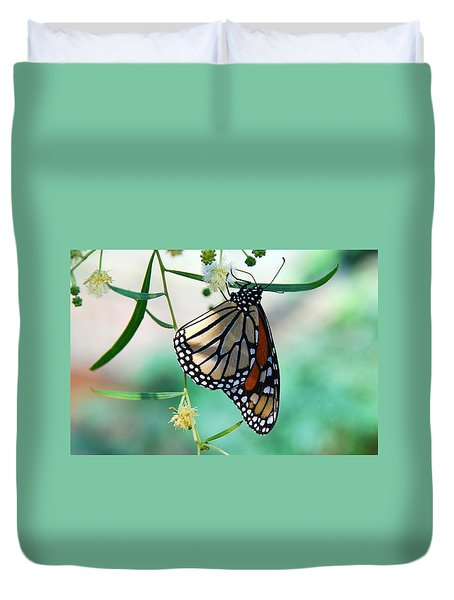 Duvet Cover featuring the photograph Monarch by Tam Ryan