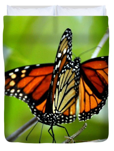 Monarchs Deluxe Duvet Cover by Marty Koch