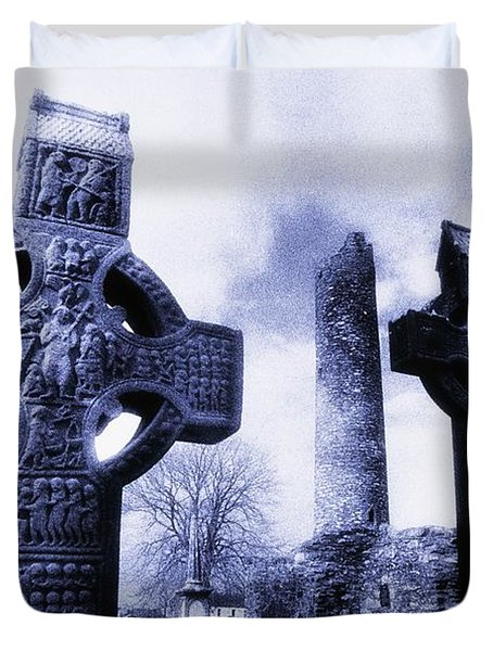Monasterboice, Co Louth, Ireland Duvet Cover by The Irish Image Collection