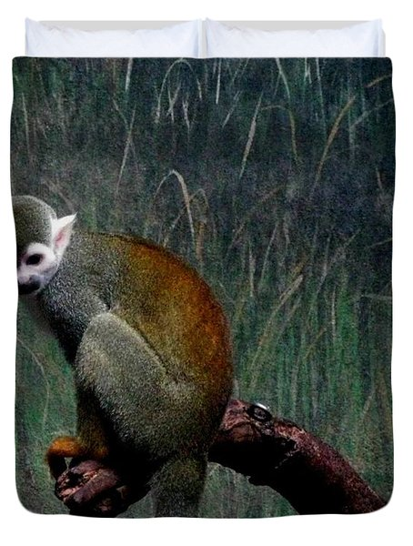 Monkey Duvet Cover by Maria Urso