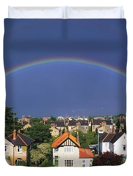 Monkstown, Co Dublin, Ireland Rainbow Duvet Cover by The Irish Image Collection