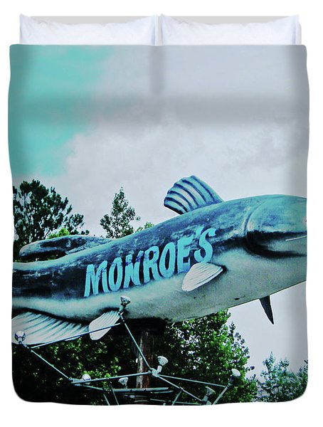 Monroe's Catfish  Duvet Cover by Lizi Beard-Ward