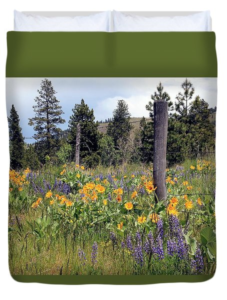 Montana Wildflowers Duvet Cover by Athena Mckinzie