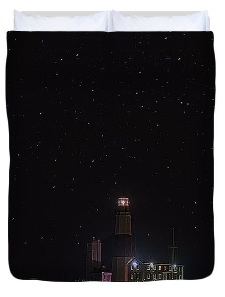 Montauk Starry Night Duvet Cover by William Jobes