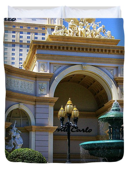 Monte Carlo Casino Resort Duvet Cover by Mariola Bitner