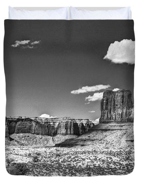 Monument Valley In Monochrome  Duvet Cover by Saija  Lehtonen