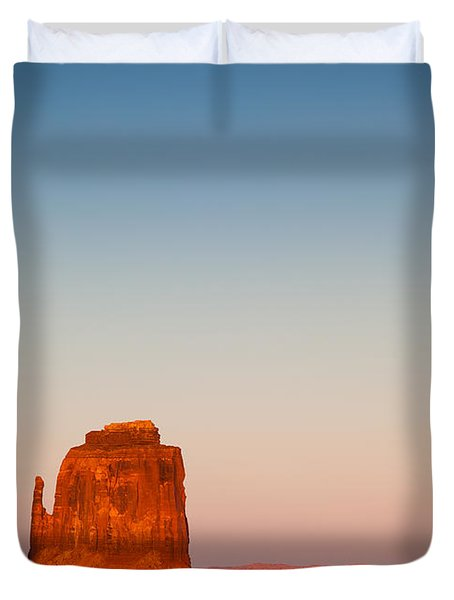 Monument Valley Sunset Duvet Cover by Dave Bowman