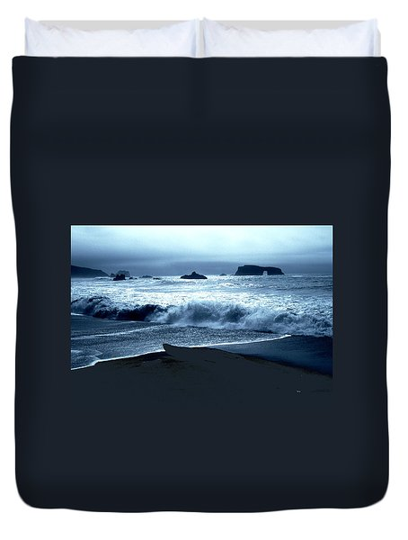 Arch Rock Northern California Coast Duvet Cover