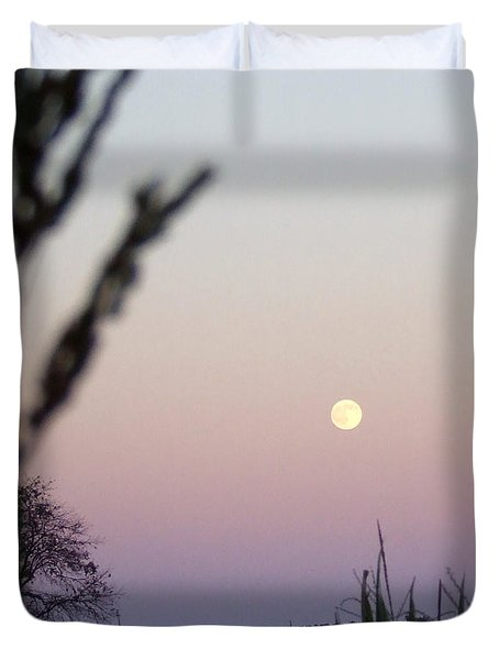 Duvet Cover featuring the photograph Moon by Andrea Anderegg