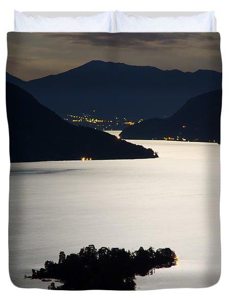 Moon Light Over Islands Duvet Cover