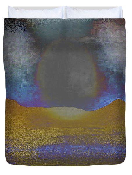 Moon Over Arizona 2 Duvet Cover by Lenore Senior and Angela L Walker