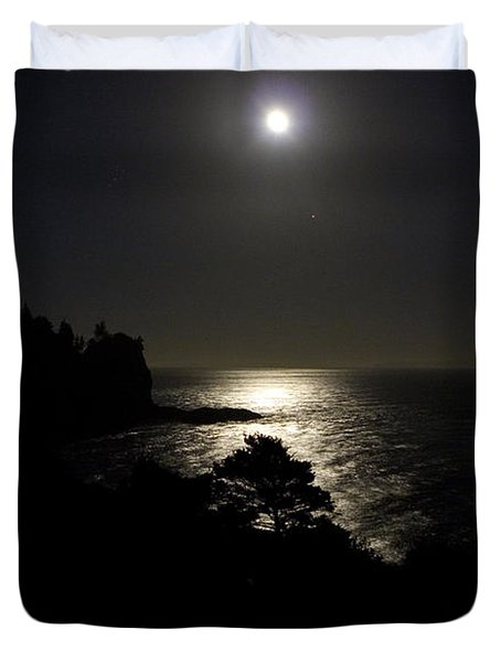 Duvet Cover featuring the photograph Moon Over Dor by Brent L Ander