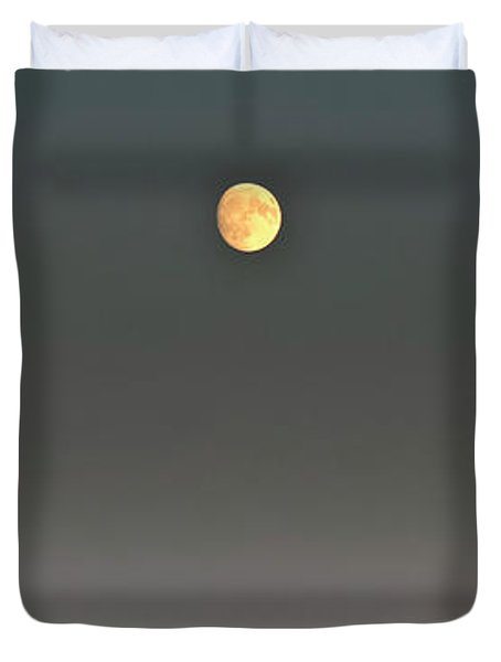 Duvet Cover featuring the photograph Moon Over The Palouse by Albert Seger